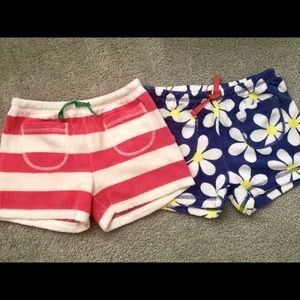 Toweling shorts by Mini Boden. Size 7-8 girls.